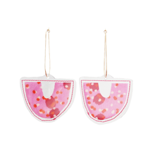 Load image into Gallery viewer, DROP HOOPS  |  Pink Speckled Sands