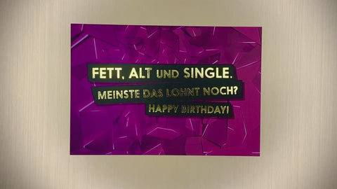 Fett, Alt und Single
