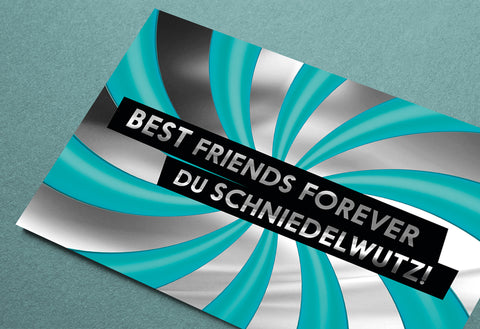 FCK YOU CARDS: Best Friends Schniedelwutz lustige Grußkarte Foto