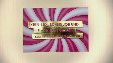 Kein Sex, scheiß Job