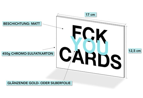 FUCK YOU CARDS: Happy Birthday du Ficker lustige Geburtstagskarte Abmessungen Karte