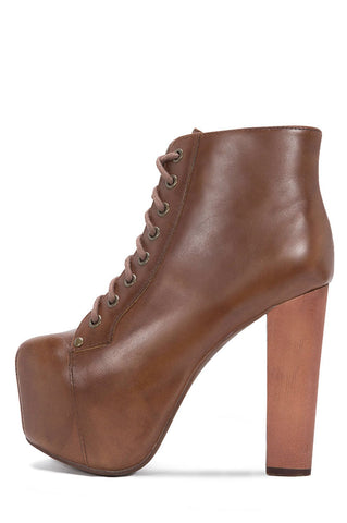 LITA LEATHER BROWN