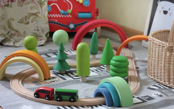 Wooden Forest Tree Set - 7 Pieces