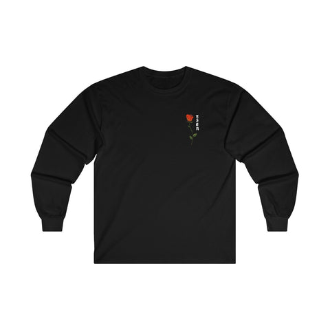 ROSE BLACK LONG-SLEEVE