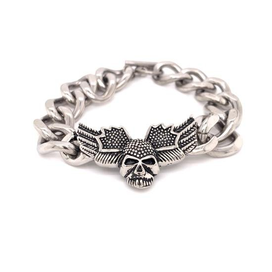 Stainless Steel Skull Wings Bracelet-BCJ0155