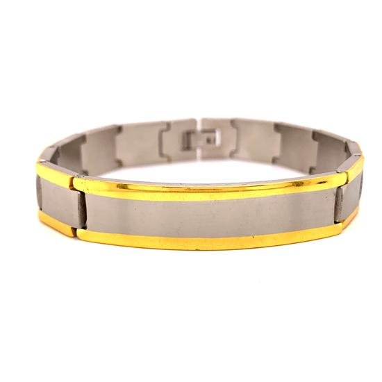 Gold & Stainless Steel Bracelet-BRG0012