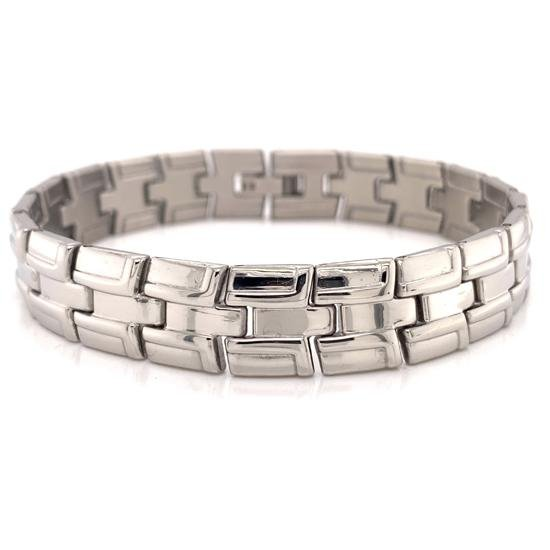 Brushed Stainless Steel Bracelet-BRJ2407