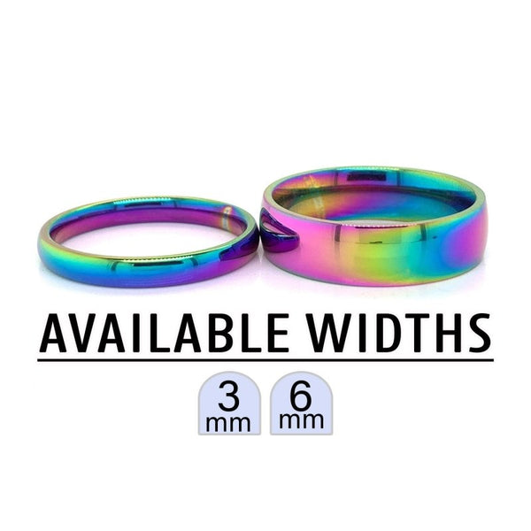 CFR7012 - Rainbow Stainless Steel Blank Ring