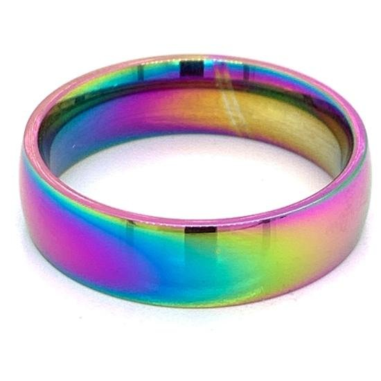 Rainbow Stainless Steel Ring-CFR7012