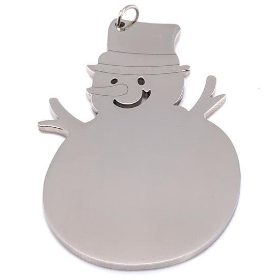 Polished Stainless Steel Blank Snowman-CTO1001