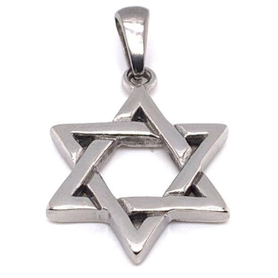 Stainless Steel Star of David Pendant-PDC9005