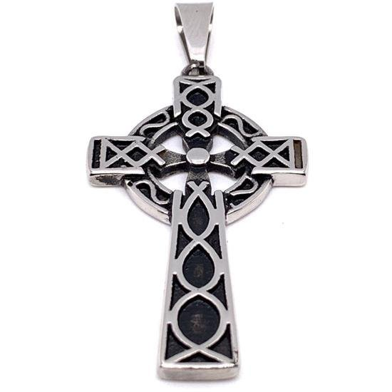 Stainless Steel Celtic Cross Pendant-PDC9008