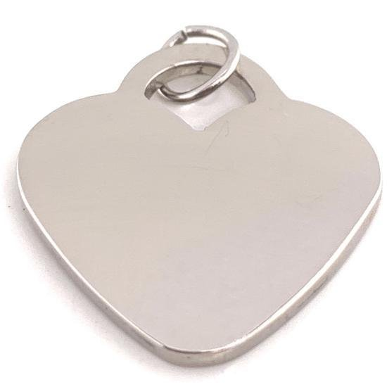 Blank Heart Charm Stainless Steel Pendant-SBB0011