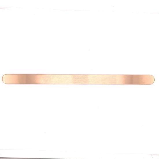 "Engravable Rose Gold Plated Stainless Steel 3/8"" WIde Cuff Bracelet-SBB0112"