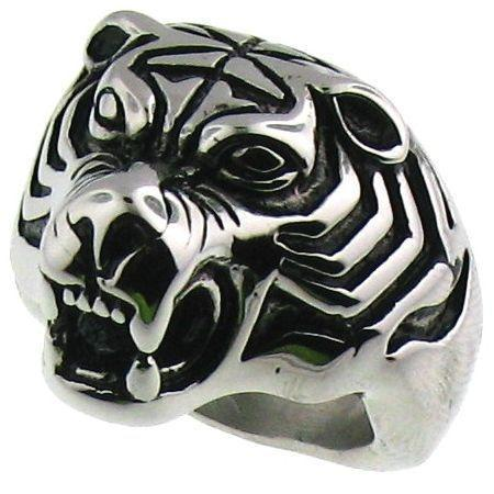 Detailed Tiger Beast Stainless Steel Ring-SCR4037