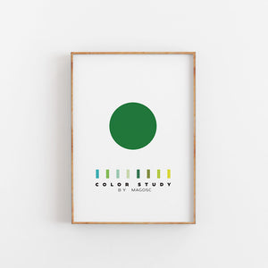 Color Study Green Circle by MAGOSC