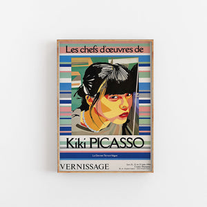 Vernissage exhibition poster - Kiki Picasso