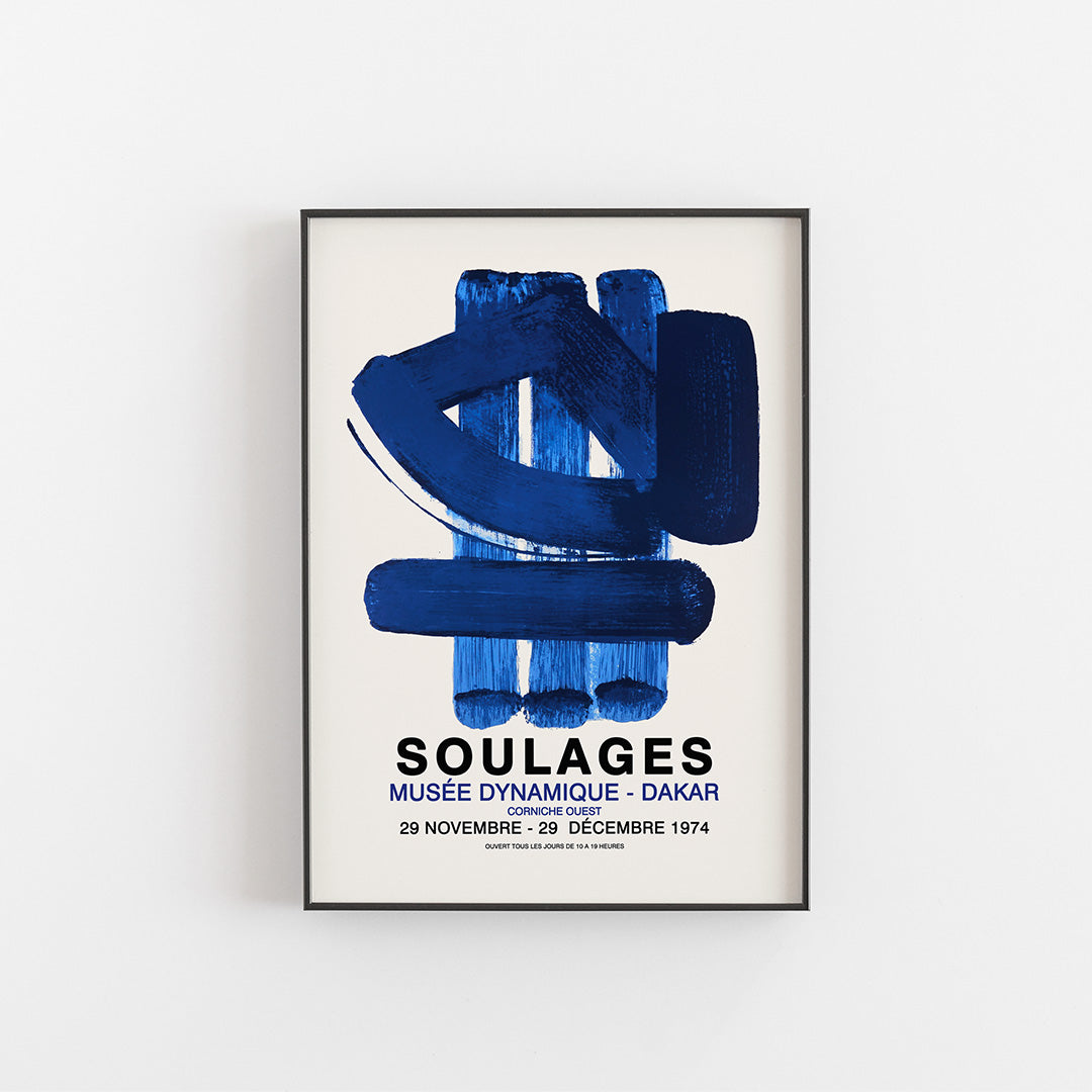 Soulages Exhibition poster