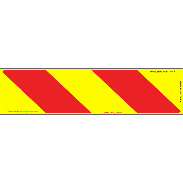 Category 41B Class 1A Pressure Sensitive Reflective Rear Marking Plate