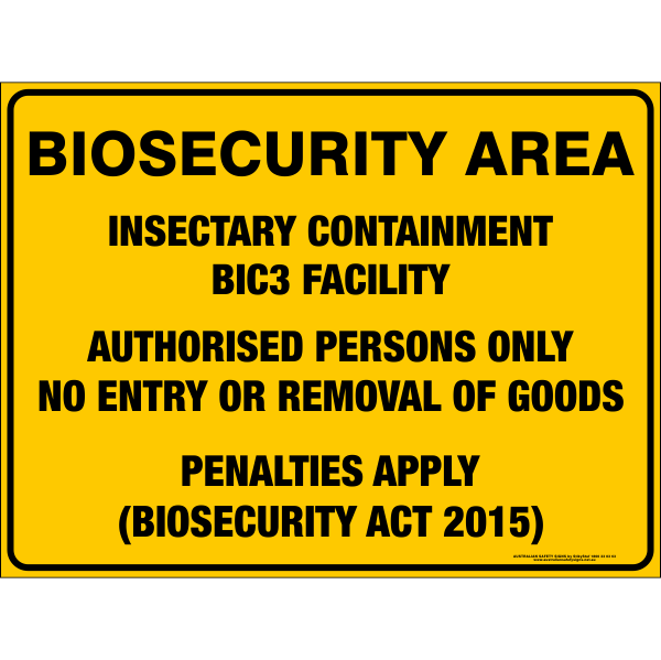 BIOSECURITY AREA - INSECTARY CONTAINMENT BIC3 FACILITY