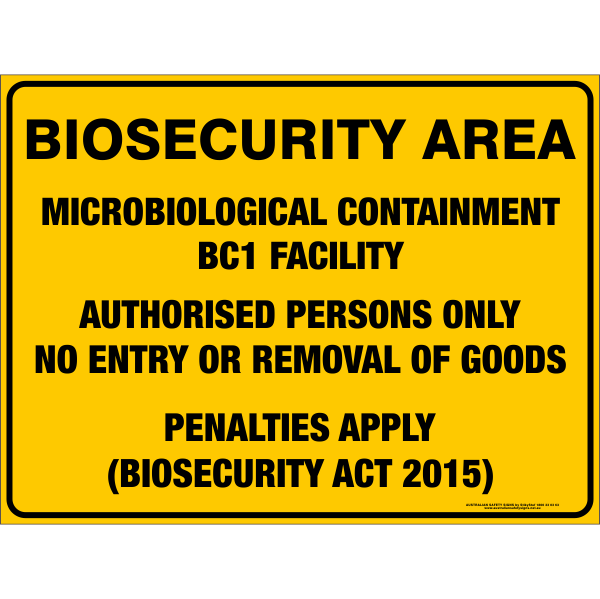 BIOSECURITY AREA - MICROBIOLOGICAL CONTAINMENT BC1 FACILITY