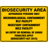 BIOSECURITY AREA - MICROBIOLOGICAL CONTAINMENT BC2 FACILITY / INSECTARY CONTAINMENT BIC2 FACILITY