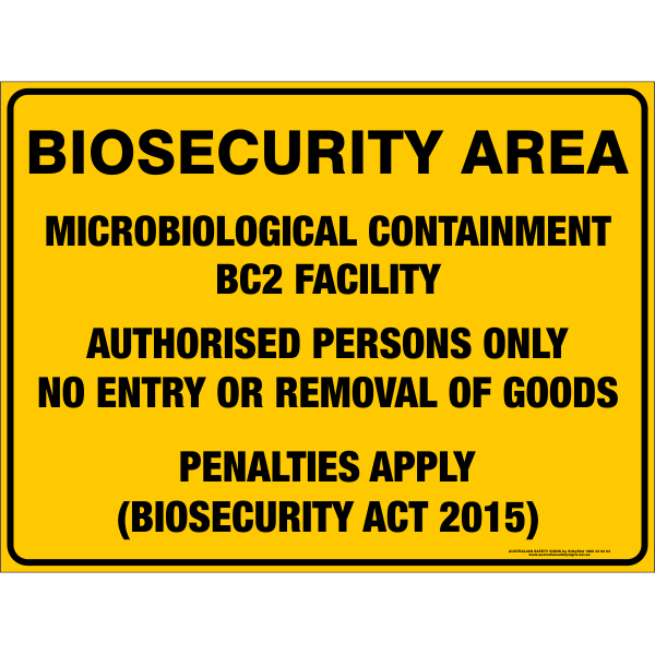 BIOSECURITY AREA - MICROBIOLOGICAL CONTAINMENT BC2 FACILITY