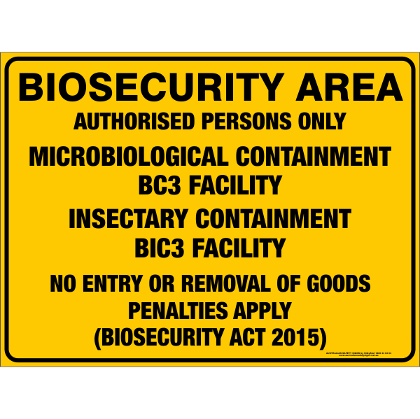 BIOSECURITY AREA - MICROBIOLOGICAL CONTAINMENT BC3 FACILITY / INSECTARY CONTAINMENT BIC3 FACILITY
