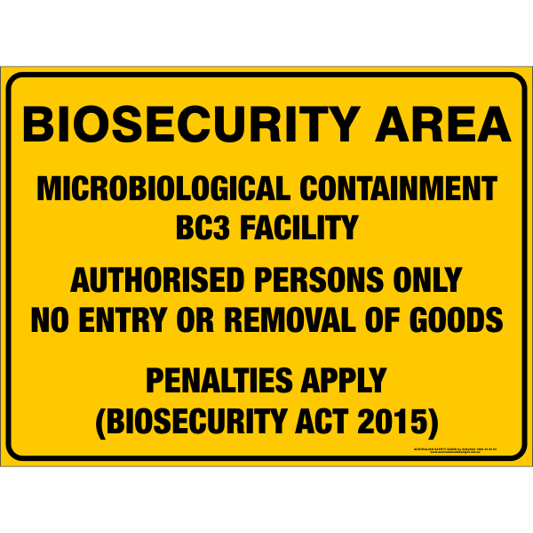 BIOSECURITY AREA - MICROBIOLOGICAL CONTAINMENT BC3 FACILITY