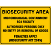 BIOSECURITY AREA - MICROBIOLOGICAL CONTAINMENT BC4 FACILITY