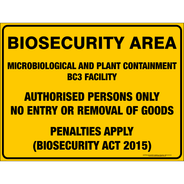 BIOSECURITY AREA - MICROBIOLOGICAL & PLANT CONTAINMENT BC3 FACILITY