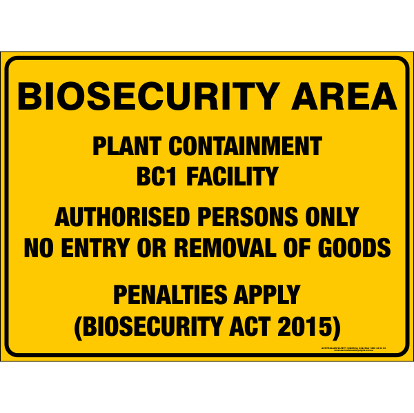 BIOSECURITY AREA - PLANT CONTAINMENT BC1 FACILITY
