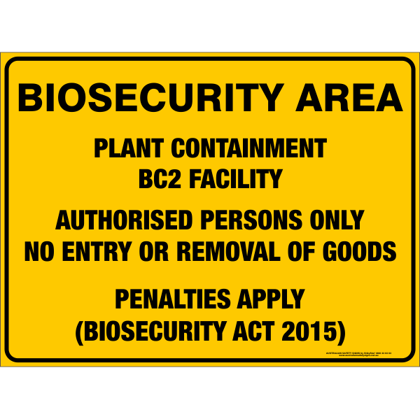 BIOSECURITY AREA - PLANT CONTAINMENT BC2 FACILITY