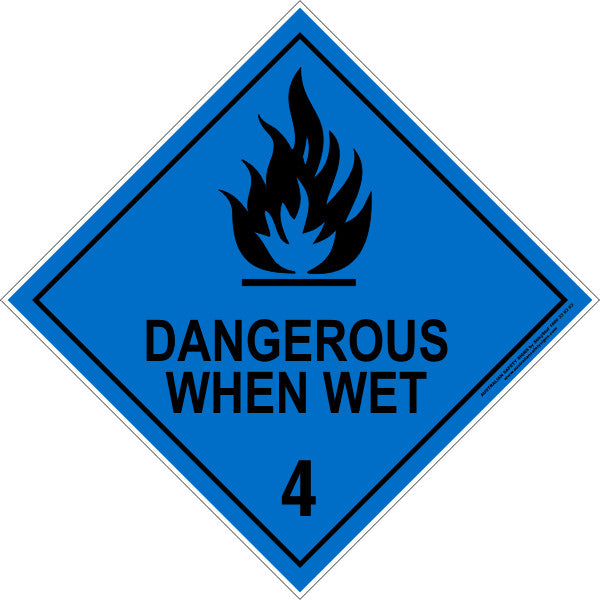 CLASS 4 - DANGEROUS WHEN WET - BLACK