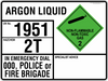 EMERGENCY INFORMATION PANEL - ARGON LIQUID