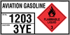 AVIATION GASOLINE - EMERGENCY INFORMATION PANEL - FOR STORAGE