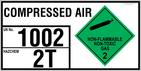 Compressed Air Emergency Information Panel For Storage