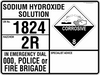 EMERGENCY INFORMATION PANEL - SODIUM HYDROXIDE SOLUTION