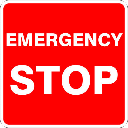 Emergency Stop Australian Safety Signs