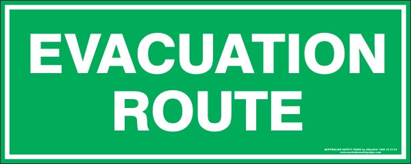 Evacuation Route Stickers