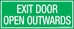 EXIT DOOR OPEN OUTWARDS