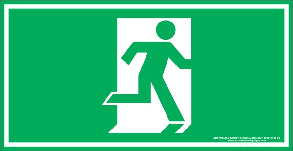Exit Symbol Australian Safety Signs