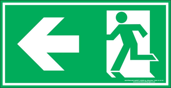 EXIT SYMBOL LEFT ARROW