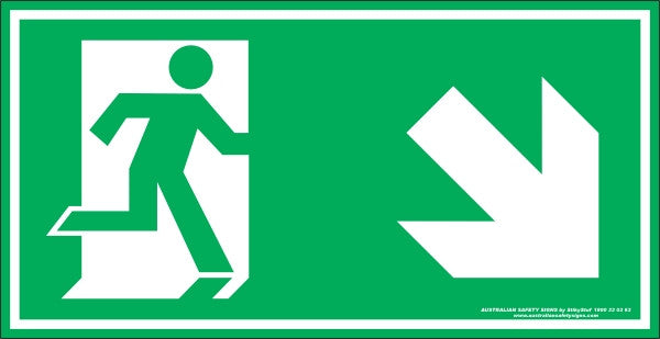 EXIT SYMBOL RIGHT DOWN ARROW