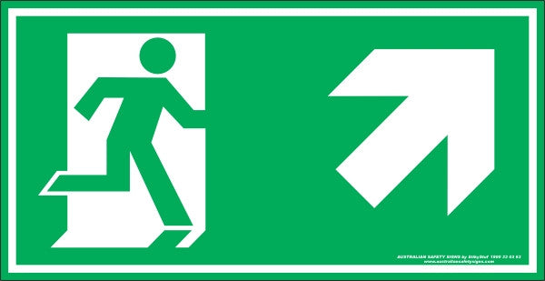 EXIT SYMBOL RIGHT UP ARROW