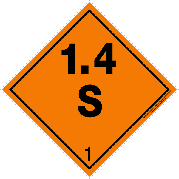 Class 1 Explosive 14s Australian Safety Signs