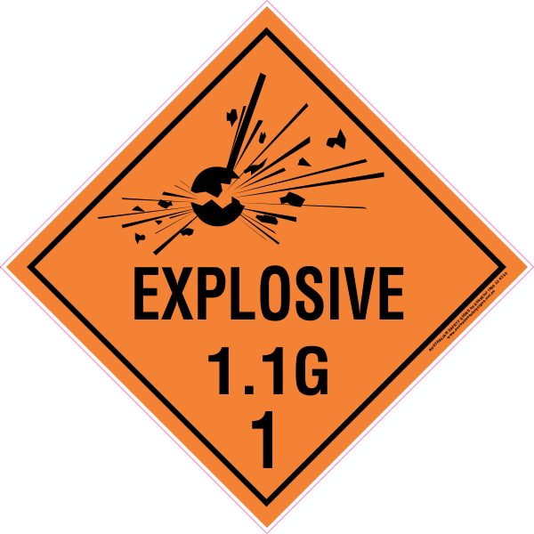CLASS 1 - EXPLOSIVE 1.1 GROUP G