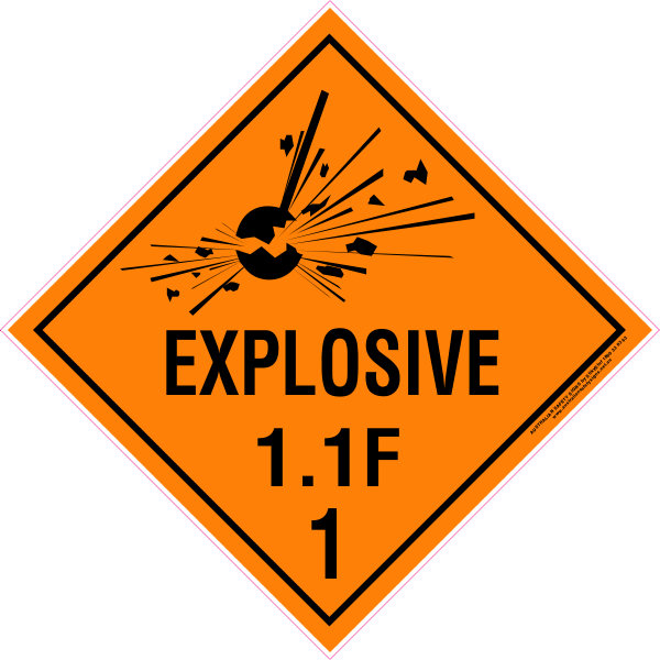 CLASS 1 - EXPLOSIVE 1.1 GROUP F