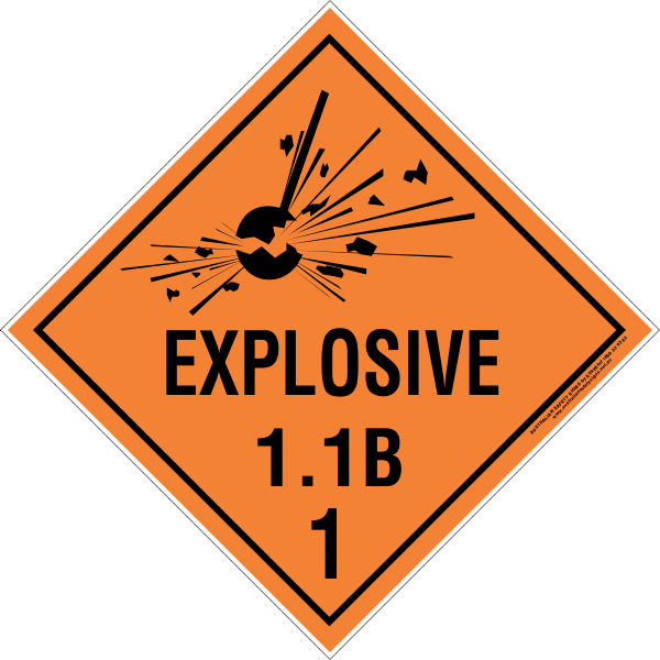 CLASS 1 - EXPLOSIVE 1.1 GROUP B