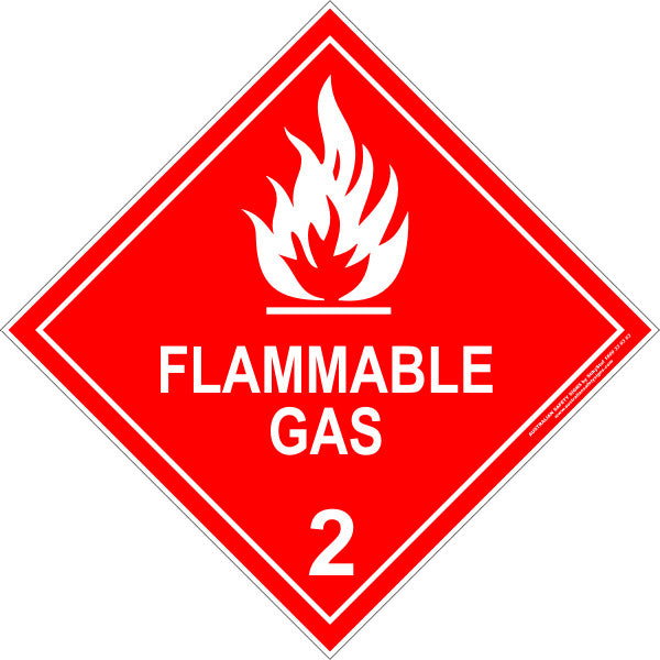 CLASS 2 - FLAMMABLE GAS - WHITE